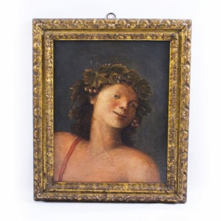 Antique Painting 'Young Classical Boy' c.1880
