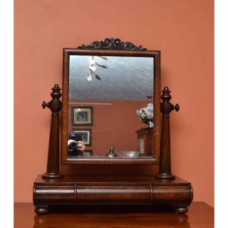 Antique Victorian Mahogany Dressing Table Mirror c.1840 - 81 x 67 cm