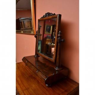 Antique Victorian Mahogany Dressing Table Mirror c.1840 - 81 x 67 cm