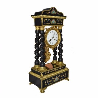 Antique French Gilt Bronze Boulle Portico Clock c.1870