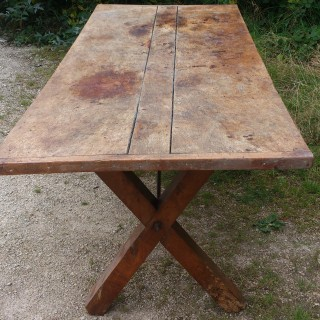 Antique 18th Century Georgian Vernacular / Country Farmhouse Refectory Dining Table