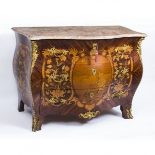 Antique French Goncalo Alves Marquetry Commode Chest c.1830