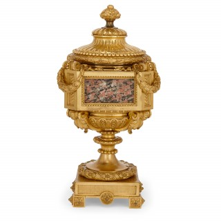 Antique French ormolu and marble vase attributed to Picard