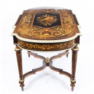 Antique Marquetry Bureau Plat Writing Table French c.1850