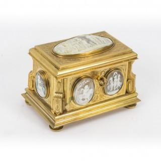 Antique Gilt Bronze Jewel Casket Box by Tahan c.1870