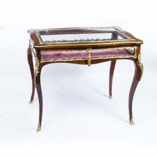 Antique French Rosewood & Ormolu Bijouterie Display Table