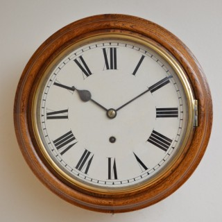 Unusually Small Oak Wall Clock