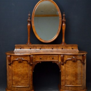 Victorian Burr Walnut Dressing Table
