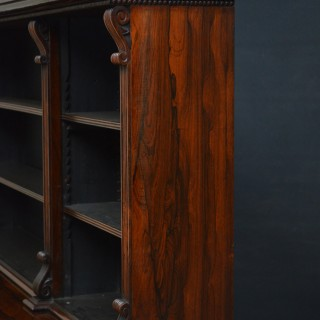 Regency Rosewood Cabinet Bookcase... Gillows