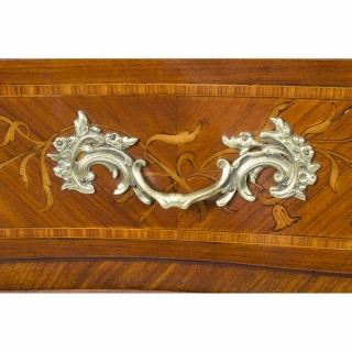 Antique Louis XV Revival Marquetry Commode Chest c.1880