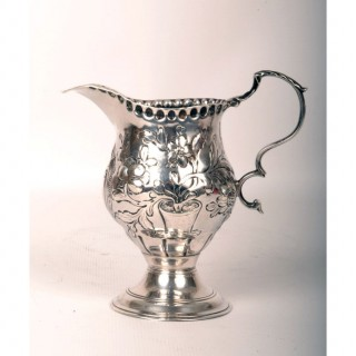 Antique English George III Silver Cream Jug 1770