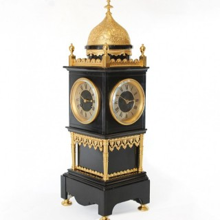 Rare Three-sided Table Clock, of Eastern influence