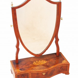 Antique Mahogany Dressing Table Mirror