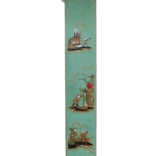 English Chinoiserie Chiming Grandmother Clock by Elliott