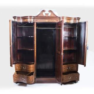 Antique Victorian wardrobe by Edwards & Roberts c.1880