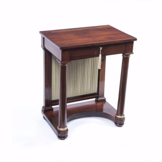 Antique English Empire Rosewood Console Writing Table c.1820