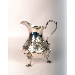Antique Victorian Silver Cream Jug London1854