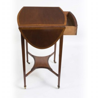 Antique Edwardian Inlaid Occasional Table c.1900