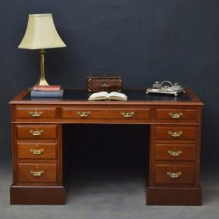 Late Victorian Walnut Desk
