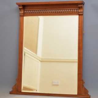 Late Victorian Walnut Wall Mirror