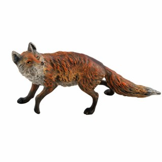 Austrian Cold Painted Bronze Fox