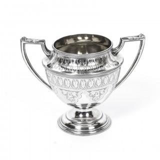 Antique Silver 5 piece Tea Coffee Service & Tray Martin Hall 1874