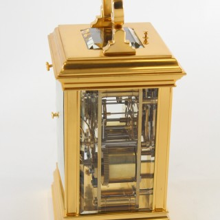 Gilt 5-minute repeating carriage clock