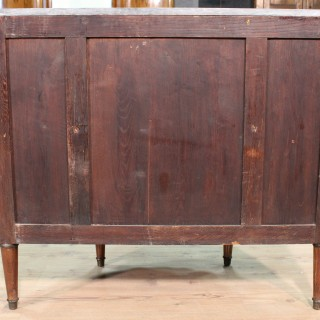 19th Century French Inlaid Demlune Dresser With Marble Top