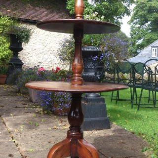 18th Century George III Period Mahogany Antique Tripod Dumb Waiter Whatnot Three Tier Table