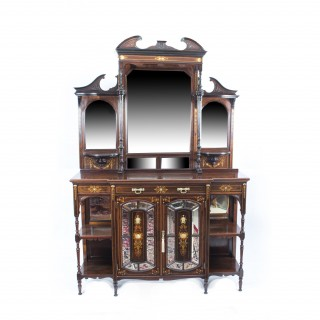 Antique Edwardian Inlaid Rosewood Cabinet c.1890