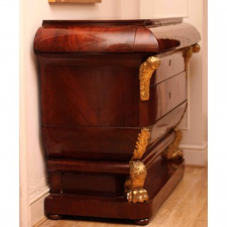 Antique Viennese Empire Commode Chest Gilded c.1800