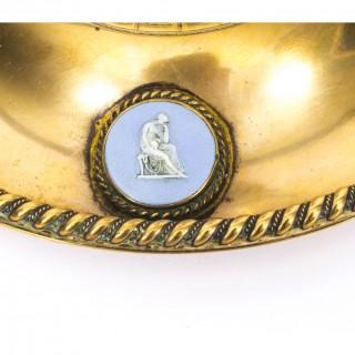 Antique Brass & Jasperware Desk Set James Howell 19th C