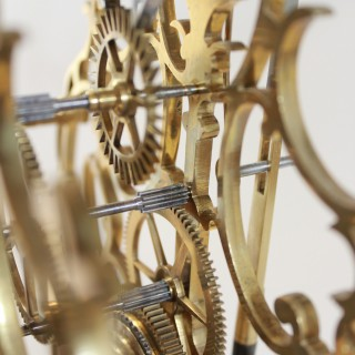 English Arabesque skeleton clock, Evans of Handsworth
