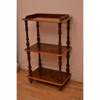 Antique Victorian Walnut Whatnot Stand c.1880