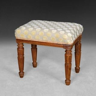 A good William IV period Mahogany foot stool