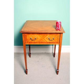 Antique Edwardian Satinwood Occasional Table c.1900