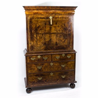 Antique 18th Century Queen Anne Walnut Secretaire