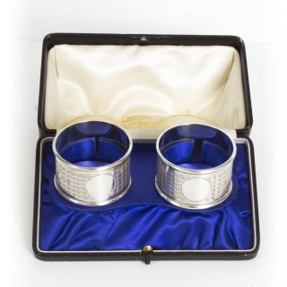 Antique Victorian Silver Napkin Rings Martin Hall 1915