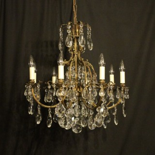 Italian Gilded 8 Light Antique Chandelier