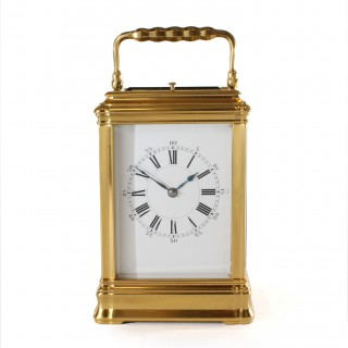 Gorge strike repeat carriage clock by Henri Jacot
