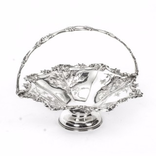 Antique Victorian Silver Plated Fruit Basket Thomas Whitehouse London c.1850