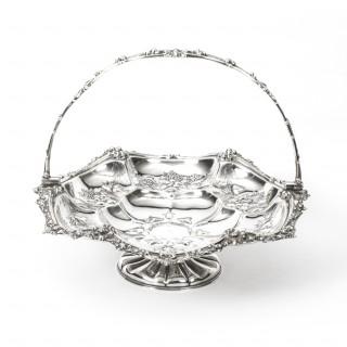 Antique Victorian Silver Plated Fruit Basket John Figg London c.1860