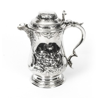 Antique English Silver Plate Ewer Lipped Tankard C1860 Martin Hall