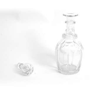 Antique pair cut glass Decanters and Stoppers C1900