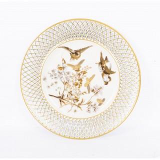 Antique Pirkenhammer Porcelain Cabinet Plate c.1900