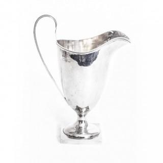 Antique Edwardian Silver Cream Jug Chester 1906