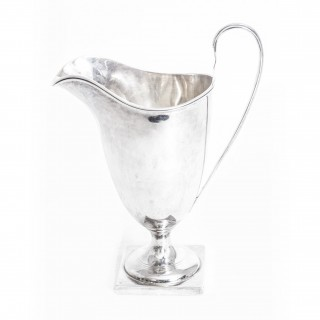 Antique Edwardian Silver Cream Jug Chester 1906