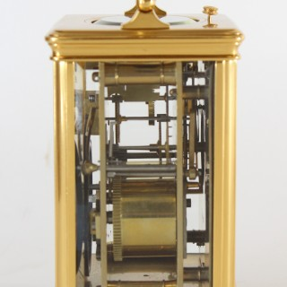 Striking repeating carriage clock by Drocourt