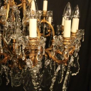French Bronze 24 Light Antique Chandelier