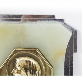 Antique Art Deco Onyx & Glass Holy Water Font Stoop C1920